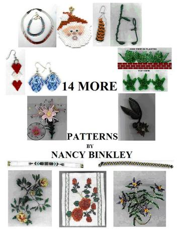 14 More Patterns Nancy Binkley.  Wall Hangers With Wire Wrapping Technique.  82 pages.  All of Nancy's patterns are...